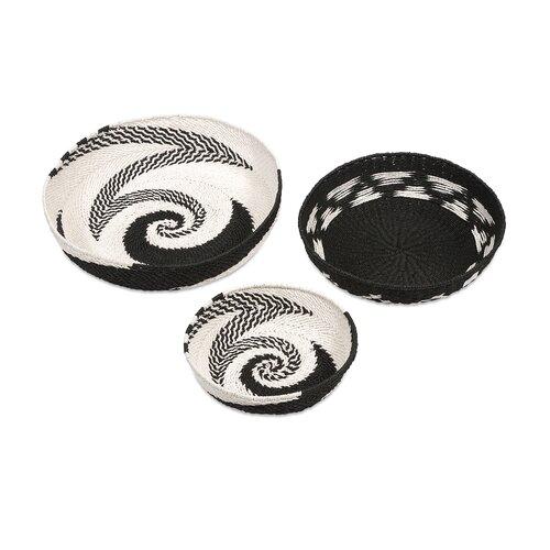Abasi 3 Piece Swirl Baskets Set