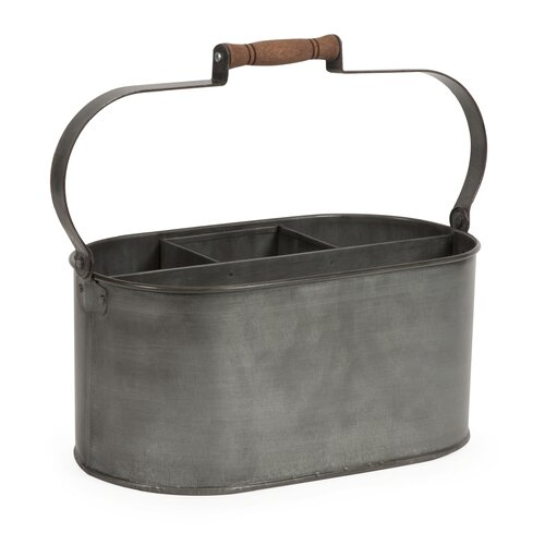 Galvanized Utensil Basket