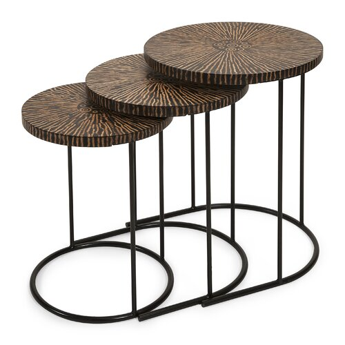 Hoki 3 Piece Coco Shell Tables Set