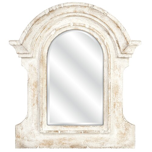 Beautris Distressed White Wall Mirror