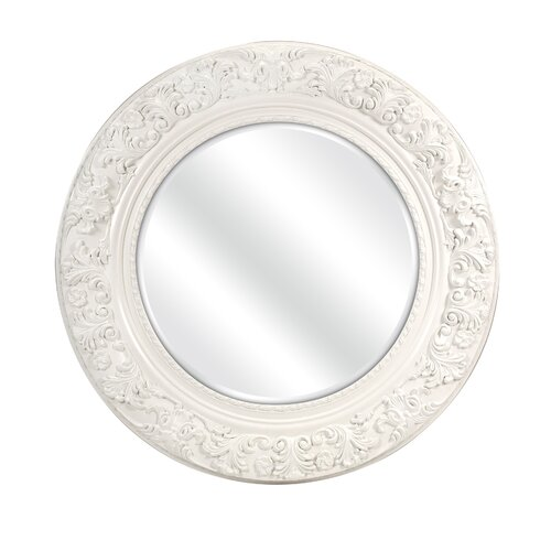 Merril Carved Round Mirror
