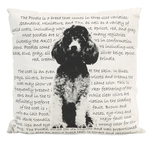 Poodle Heritage Pillow