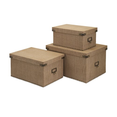 3 Piece Corbin Storage Box Set