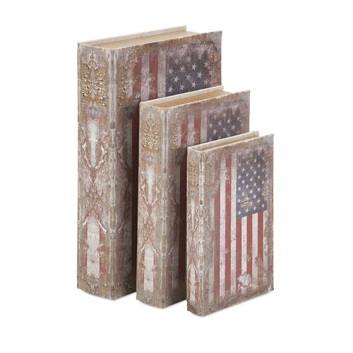 3 Piece American Flag Book Box Set