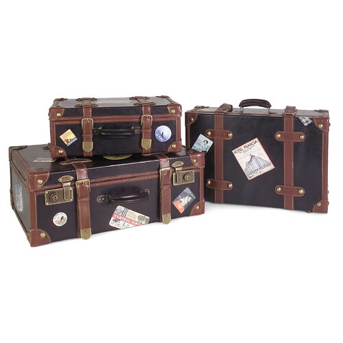 3 Piece Labeled Suitcase Set
