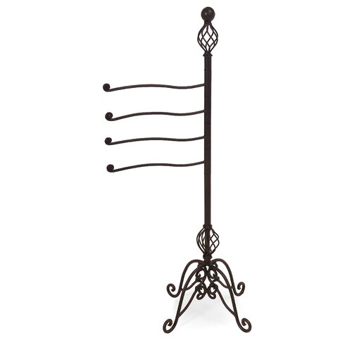 Iron Swing Arm Towel / Magazine Rack