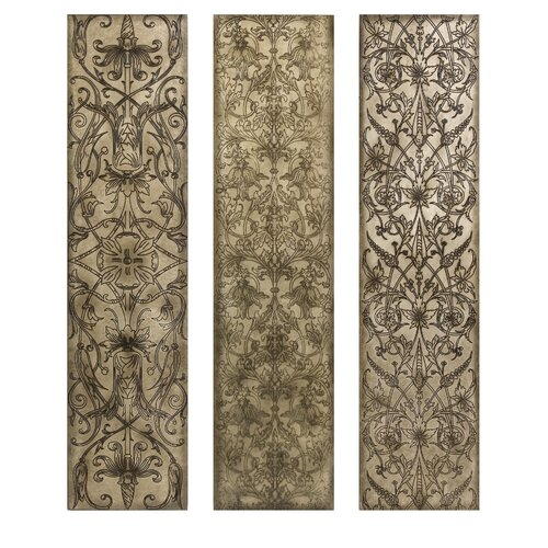 IMAX Filigree Pattern 3 Piece Graphic Plaque Set