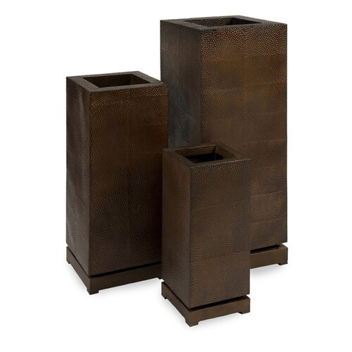 IMAX Tall 5th Avenue Square Planters (Set of 3)