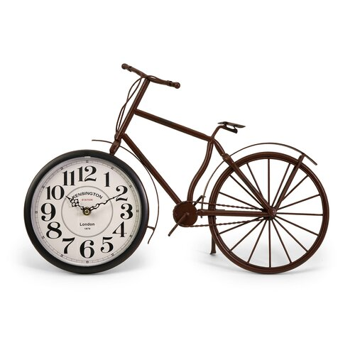 IMAX Higdon Bicycle Clock in Rustic