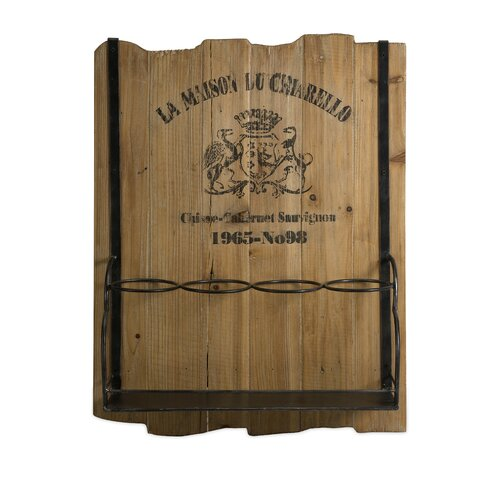 Traineur 4 Bottle Wall Mounted Wine Rack