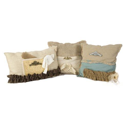 Teft Burlap Polyester Pillow (Set of 3)