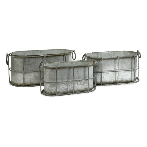 Chandler Metal Tub (Set of 3)
