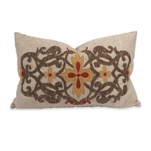 IK Amena Linen Embroidered Pillow