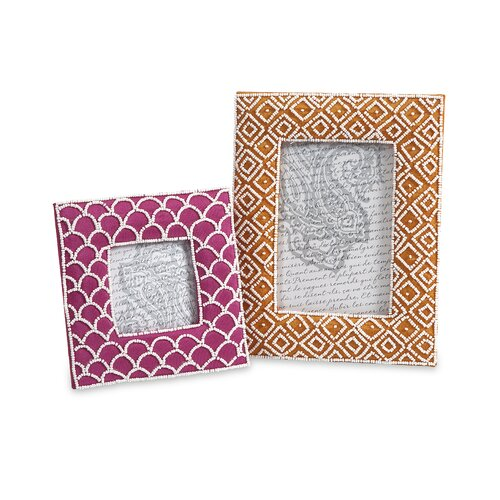 Kamie Beaded Picture Frames (Set of 2)