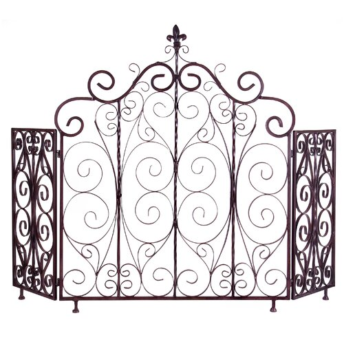 Orleans Iron Fireplace Screen