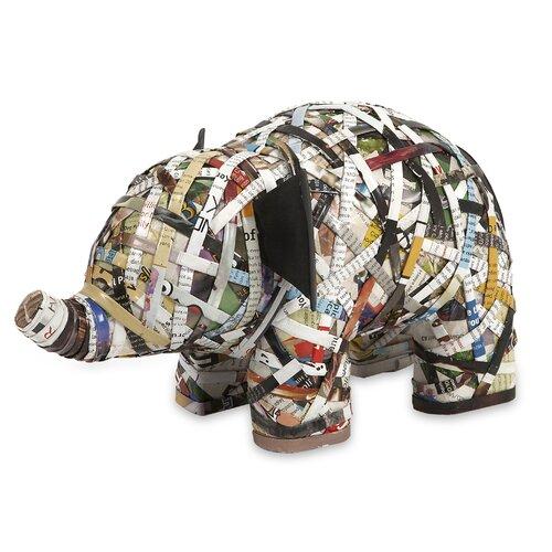 Imar Recycled Magazine Elephant Figurine