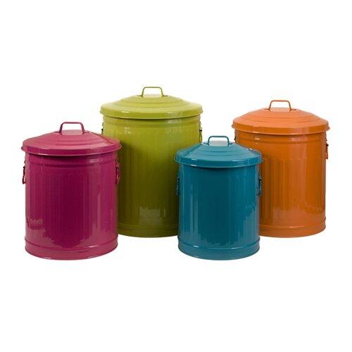 IMAX Edison Brights Four Piece Storage Can Set