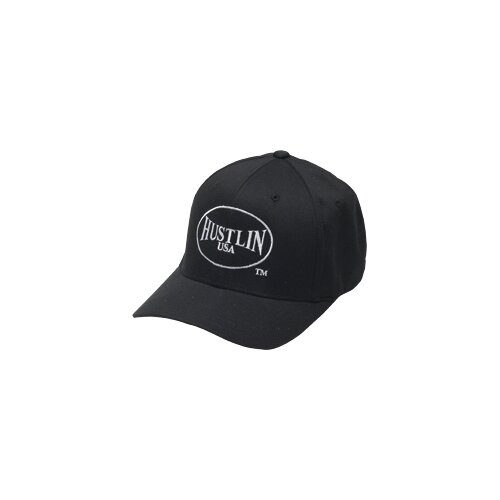 Hustlin Clothing Fitted Baseball Hat in Black