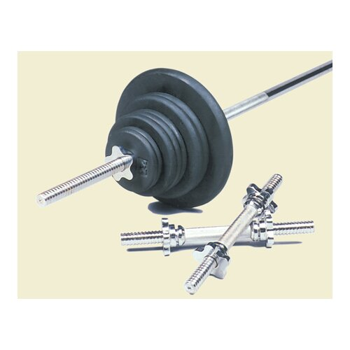 USA Sports by Troy Barbell 160 lbs Standard threaded weight set in Black