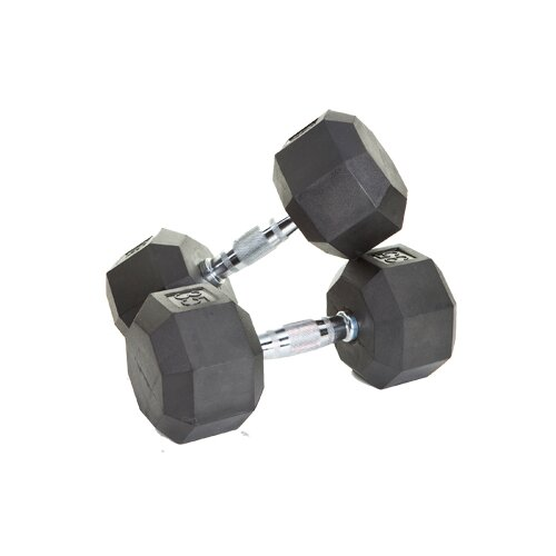 VTX by Troy Barbell 20 Piece VTX Rubber Encased Otagonal Dumbbell Set
