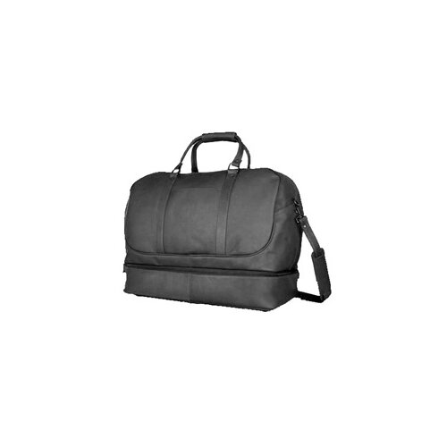 "David King 20"" Leather Bottom Compartment Travel Duffel"