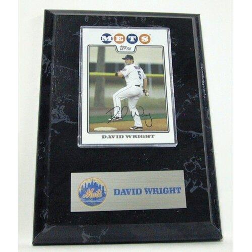 Sports Images Card Plaque MLB David Wright Card - New York Mets Memorabilia Plaque