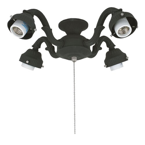 Fanimation Four Light Victorian Ceiling Fan Light Fitter For Damp Locations