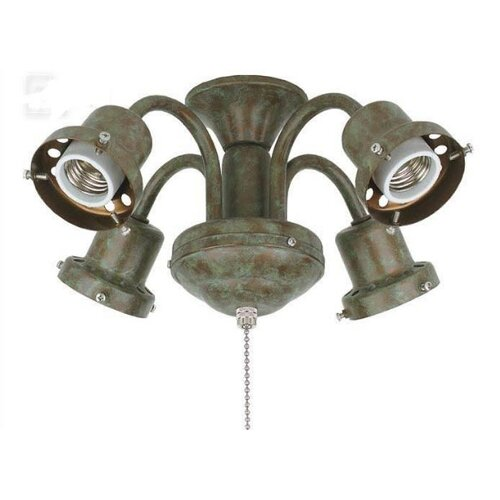 Fanimation Four Light Traditional Fitter in Oil Rubbed Bronze