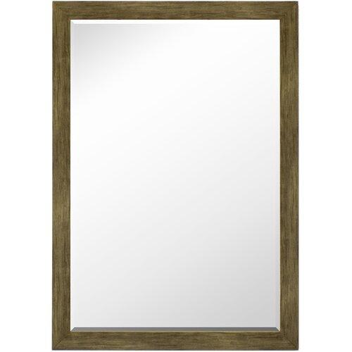 Weathered Sand Barn Siding Petite Framed Wall Mirror