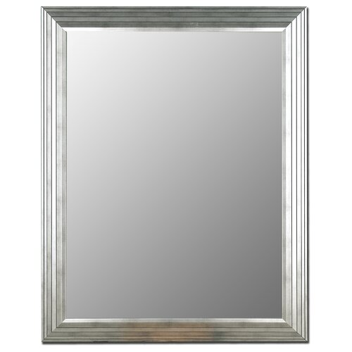 Hitchcock Butterfield Company Stepped Imperial Silver Framed Wall Mirror