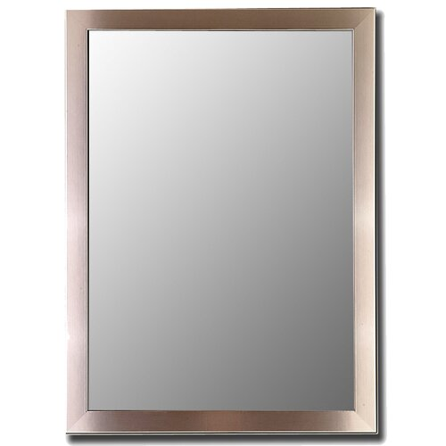 Silver Stainless Framed Wall Mirror