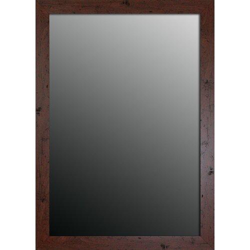 New England Walnut Framed Wall Mirror