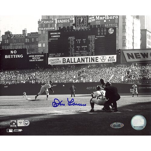 Don Larsen First Pitch Autographed