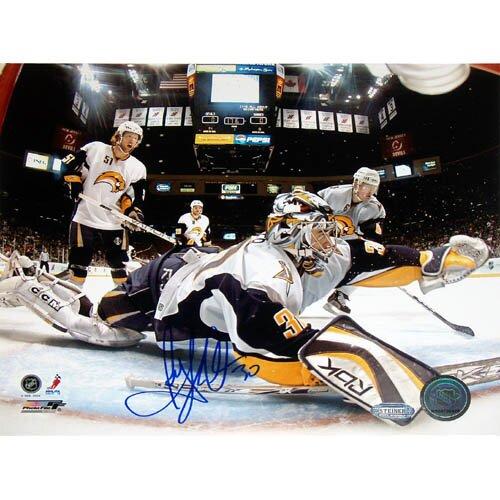 Ryan Miller Goal Cam Glove Save Vs. Devils Autographed