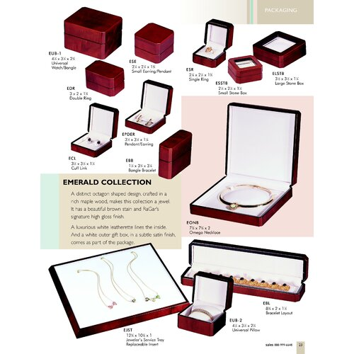 Ragar Emerald Double Ring Jewelry Box