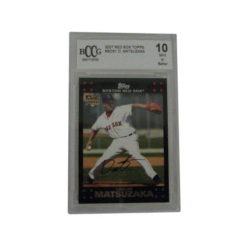 BCCG MLB 2007 Topps Matsuzaka Graded Trading Card - Boston Red Sox