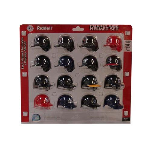 Riddell MLB 16 piece Pocket Pro Helmet Set - American League