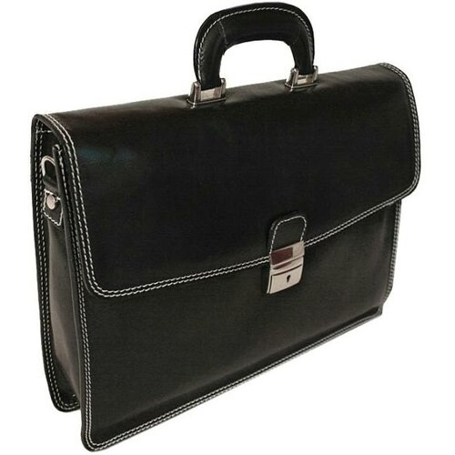 Alberto Bellucci Verona Vernio Leather Laptop Briefcase