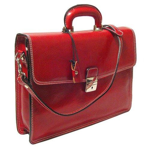 Alberto Bellucci Verona Vernio Leather Laptop Briefcase
