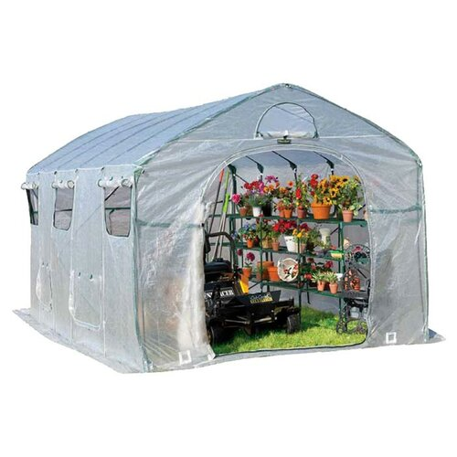 Flowerhouse FarmHouse XL 9' W x 15' D Polyethylene Greenhouse