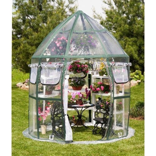 Flowerhouse Conservatory 8.5' Round Clear PVC Greenhouse