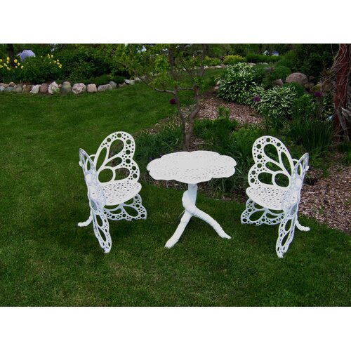 Flowerhouse Butterfly 3 Piece Bistro Set