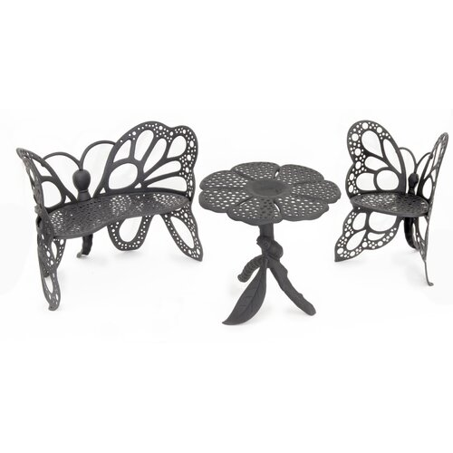 Flowerhouse Butterfly 3 Piece Bench Seating Group