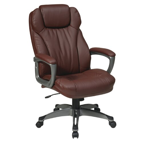CommClad Eco Leather Executive Office Chair with Padded Arms