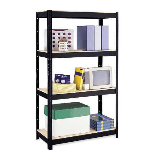 "CommClad Storage 60"" H 4 Shelf Shelving Unit"