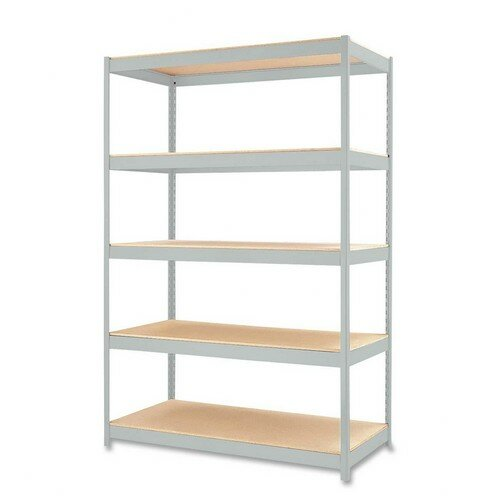 "CommClad Heavy-duty Industrial 72"" H 5 Shelf Shelving Unit"