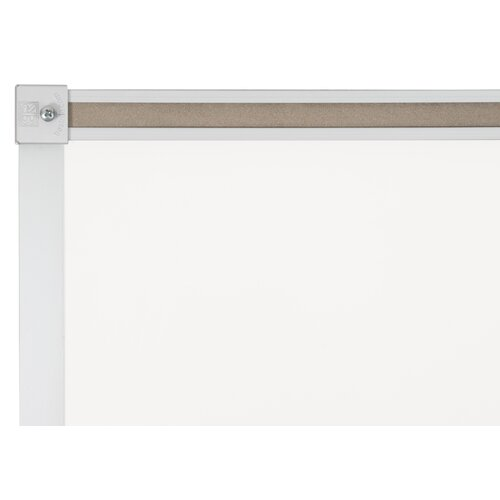 "CommClad 48"" x 96"" Thermal-Fused Melamine Whiteboard with Aluminum Trim and Map Rail"