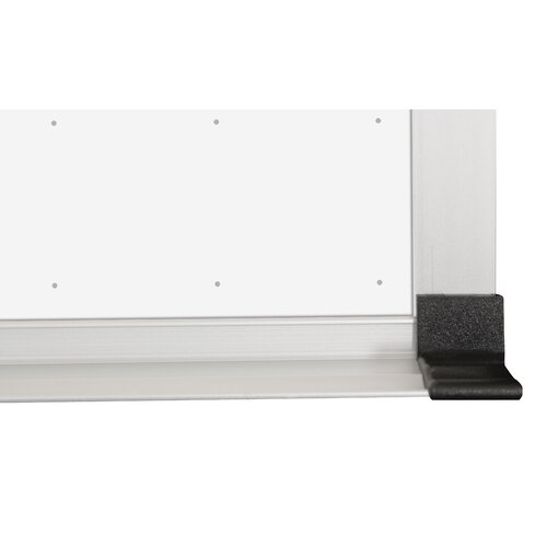 CommClad Thermal-Fused Dot Grid Whiteboard, 4' x 6'