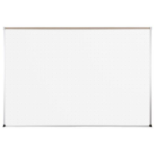 "CommClad 36"" x 48"" Thermal-Fused Melamine Whiteboard with Aluminum Trim and Map Rail"