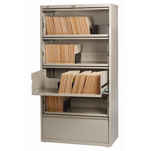 CommClad Hirsh HL8000 Series Wide Commercial Lateral Files Open Filing Unit